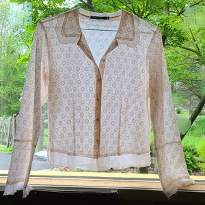 Johnny Was fine detailed classy blouse never worn